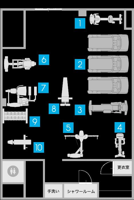 24トータルボディ倉敷の施設案内図面
